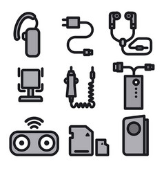 icons for mobile phone devices vector image