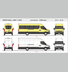 Iveco daily van l4h2 and l4h3 2014-2019 vector