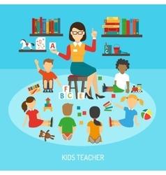 Kids Teacher Poster vector