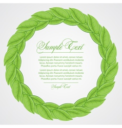 laurel wreath sign vector image