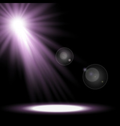 Light circle with a spotlight purple color vector