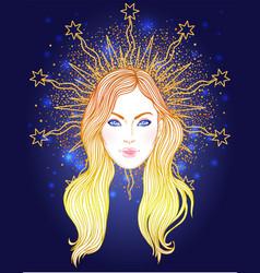madonna lady sorrow devotion vector image