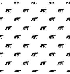 male polar bear pattern seamless vector image