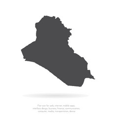 map iraq isolated black on vector image