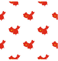 Map of china pattern seamless vector