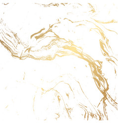 marble texture background in gold and white vector image