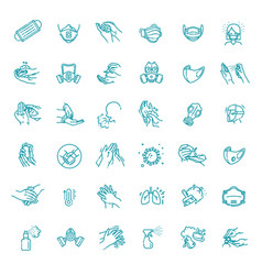 mask sets protective medical masks vector image