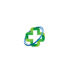 medical cross logo concept vector image