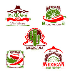 Mexican cuisine restaurant icon fast food design vector
