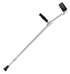 Modern metal crutch vector image