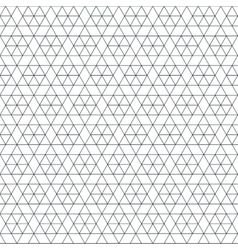 Monochrome triangle hexagon seamless pattern vector