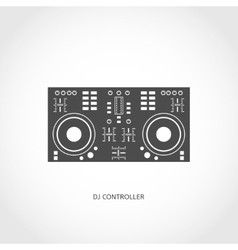 Musical instrument mixing console flat icon vector image