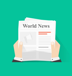 News paper reading or newspaper journal holding vector