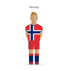 Norway football player Soccer uniform vector
