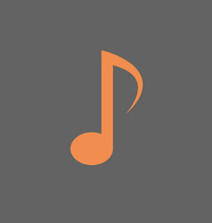 note musical sign icon music concept vector image