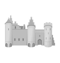 protective castle of belgiumthe dark belgian wolf vector image