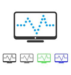 Pulse chart flat icon vector