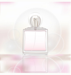realistic of perfume 3d vector image