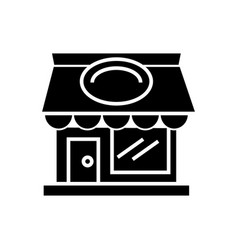 Restaurant building icon vector