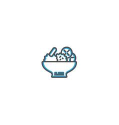 salad icon design gastronomy icon vector image