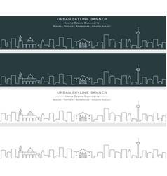 San antonio single line skyline banner vector
