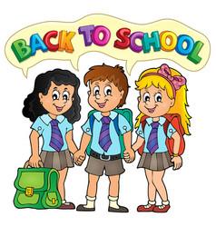 School pupils theme image 5 vector