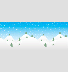 seamless winter background with falling snow vector image vector image