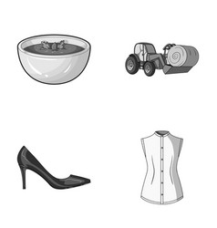 sewing food and other monochrome icon in cartoon vector image