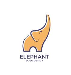 Simple elephant logo template designs vector