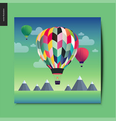 simple things - hot air balloons vector image