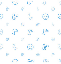 Smiling icons pattern seamless white background vector