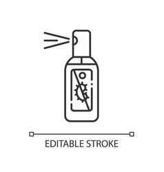 spray hand sanitizer linear icon vector image