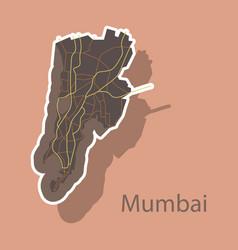 Sticker map of mumbai vector