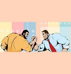 Struggle of businessmen vector