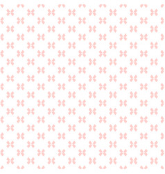 Subtle seamless pattern with small pink bows vector