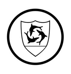 Symbol anguilla - iconic design vector
