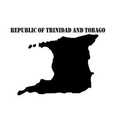 Symbol of republic of trinidad and tobago and map vector