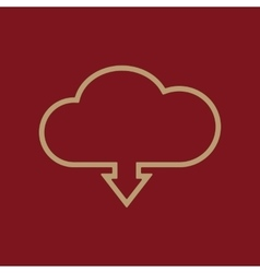 The download to cloud icon Download symbol Flat vector