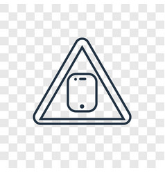 toxic waste concept linear icon isolated on vector image