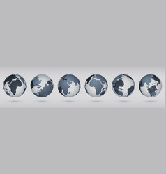 transparent earth globe realistic circle world vector image