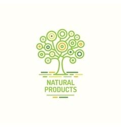 Tree symbol natural product green tree icon vector image