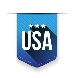 USA blue ribbon vector image