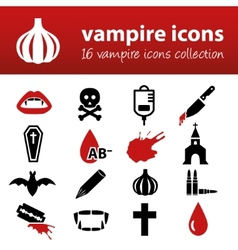 vampire icons vector image