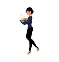 young businesswoman woman girl in business suit vector image