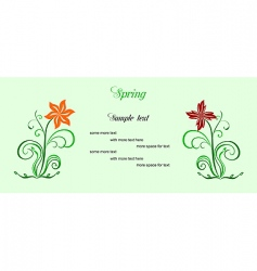spring card vector image