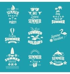Summer emblem set vector