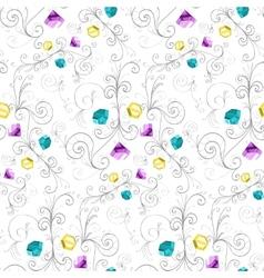 Elegant diamonds texture vector image