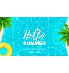 Hello summer web banner vector