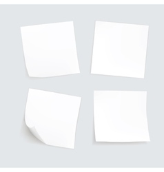 Set of Paper Sticker Sticky Note Post Memo vector image
