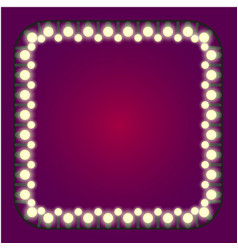 casino or holidays lights frame vector image vector image